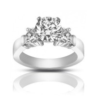 1.25 ct Women's Round Cut Diamond Engagement Ring in White Gold