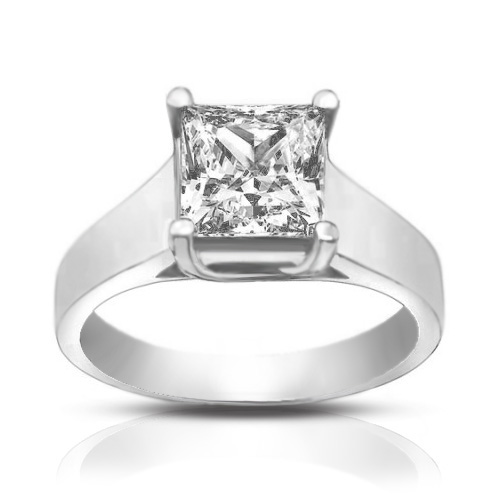 1 50 ct La s Princess Cut Diamond Engagement Ring