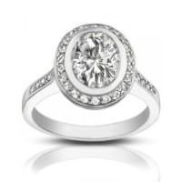 2.05 ct Ladies Oval Shape Diamond Engagement Ring