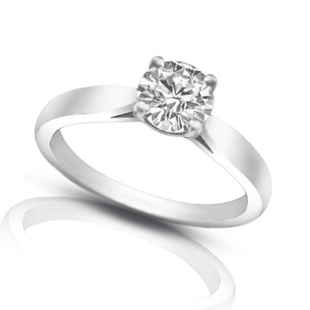 ct ladies round cut diamond solitaire engagement ring. Black Bedroom Furniture Sets. Home Design Ideas