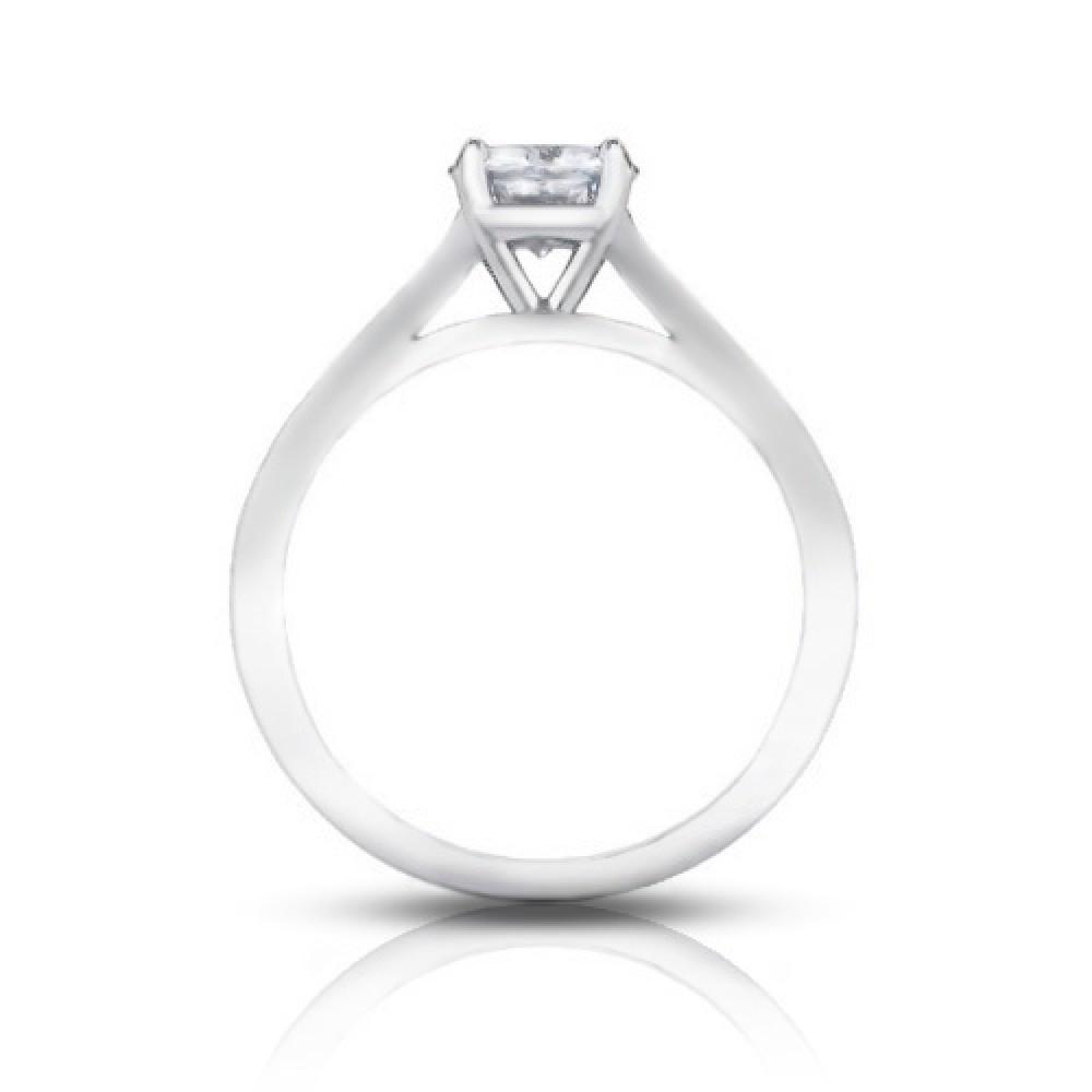 125 ct ladies round cut diamond solitaire engagement ring