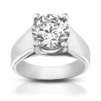 1.50 ct Ladies Round Cut Diamond Engagement Ring