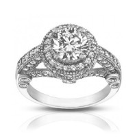 2.25 ct Women's Antique Style Diamond Engagement Ring