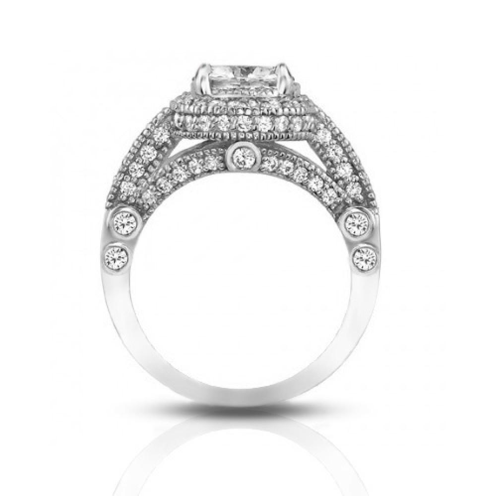 2.25 ct Women's Antique Style Diamond Engagement Ring