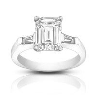 1.00 ct Ladies Emerald Cut Diamond Engagement Ring