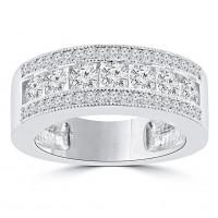 1.20 ct Ladies Round Cut Diamond Anniversary Ring
