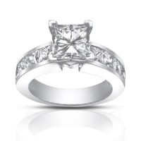 2.50 Ct Ladies Princess Cut Diamond Engagement Ring