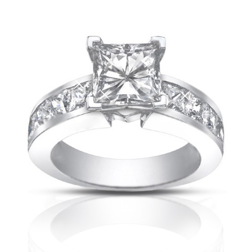 2 50 Ct La s Princess Cut Diamond Engagement Ring