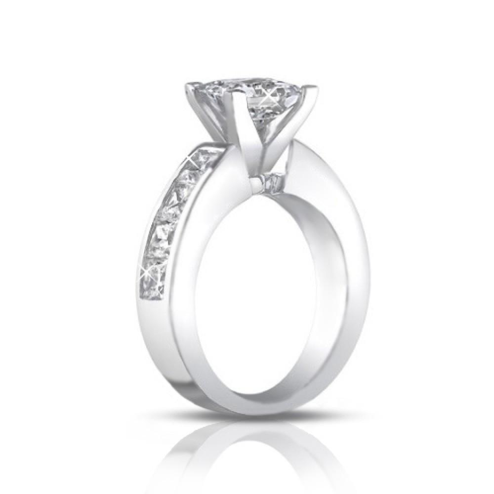 2 50 Ct La s Princess Cut Diamond Engagement Ring