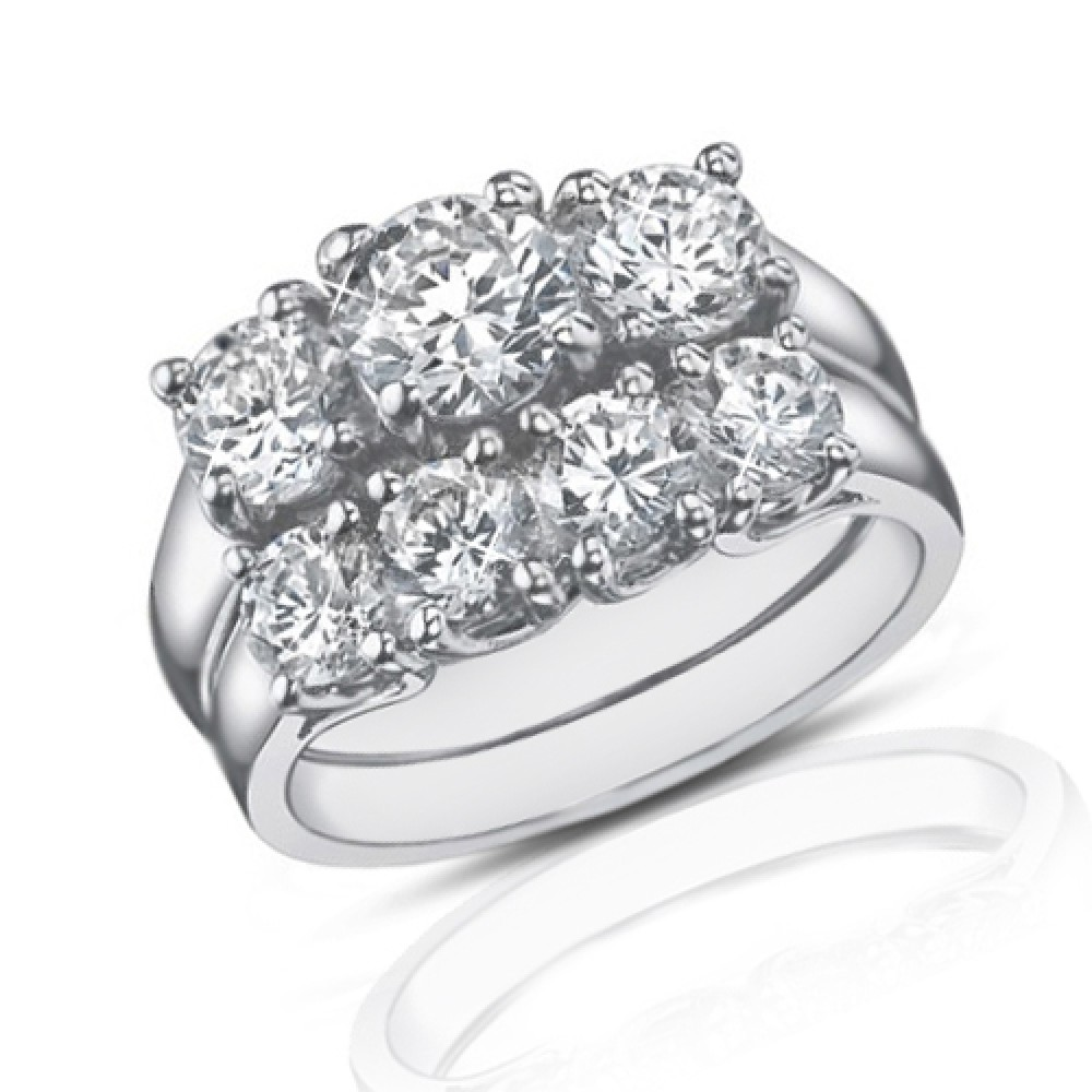 ct three stone round diamond engagement ring with. Black Bedroom Furniture Sets. Home Design Ideas