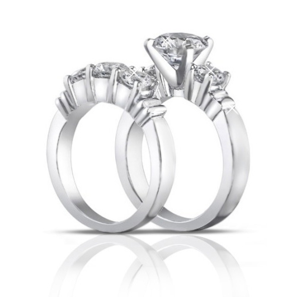 2.00 ct Women's Round Cut Diamond Engagement Ring With ...