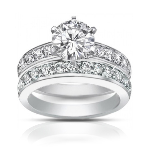 2.10 ct Ladies Round cut Diamond Engagement Ring