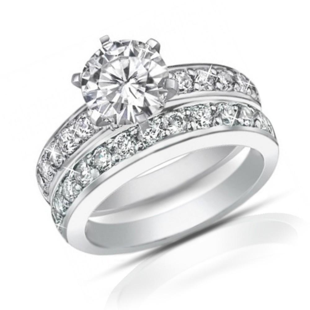 Engagement Rings Round Cut: 2.10 Ct Ladies Round Cut Diamond Engagement Ring