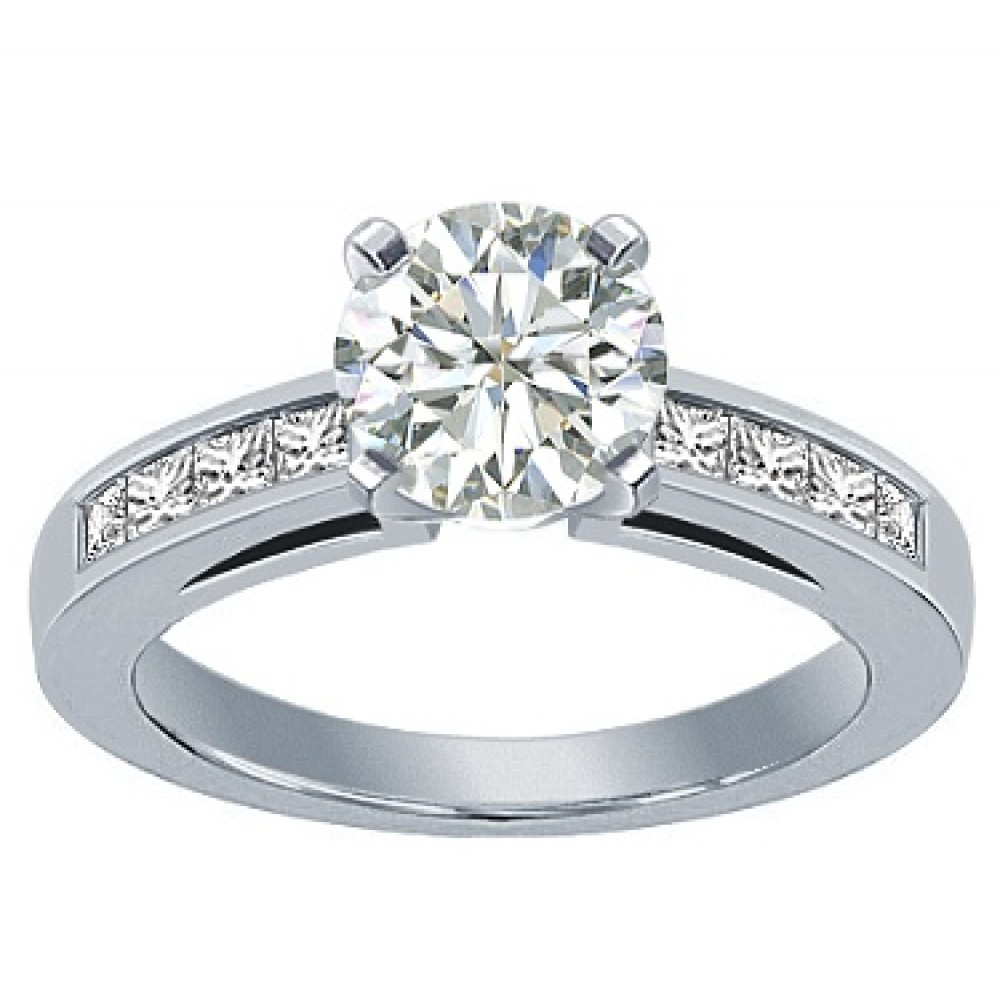 amour round princess rings diamond ct tw ring gold white cut engagement