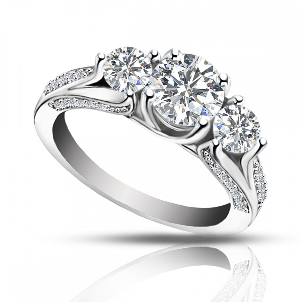 2 25 Ct Ladies One Of A Kind Diamond Engagement Ring
