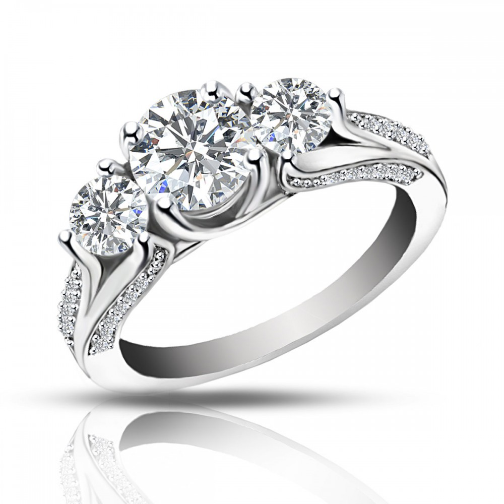ct ladies one of a kind diamond engagement ring. Black Bedroom Furniture Sets. Home Design Ideas