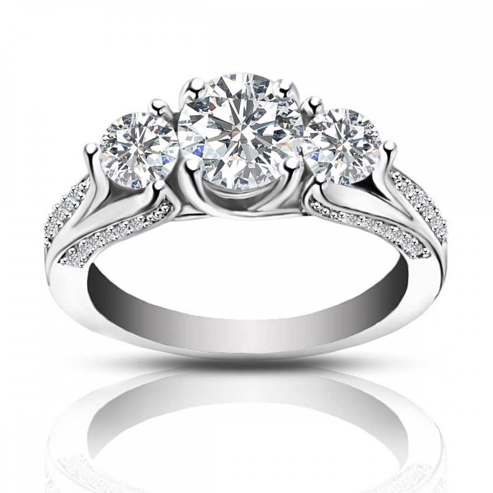225 ct ladies one of a kind diamond engagement ring - One Of A Kind Wedding Rings