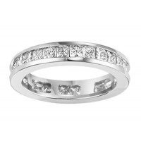 3.00 ct Princess Cut Diamond Eternity Wedding Band Ring