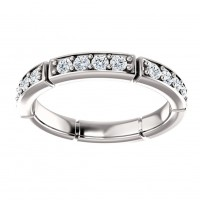 1.70 ct Ladies Round Cut Diamond Eternity Wedding Band Ring