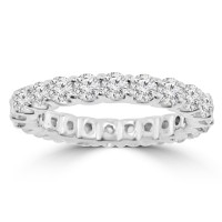 2.21 ct Ladies Round Cut Diamond Eternity Wedding Band