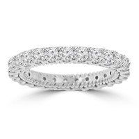 2.05 ct Ladies Round Cut Diamond Eternity Wedding Band Ring