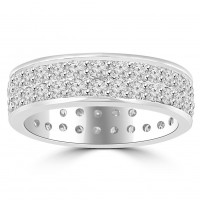 2.40 ct Ladies Round Cut Diamond Eternity Wedding Band Ring