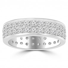 3.40 ct Men's Round Cut Diamond Eternity Wedding Band Ring