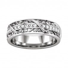 0.45 ct Ladies Round Cut Diamond Eternity Wedding Band Ring New Style