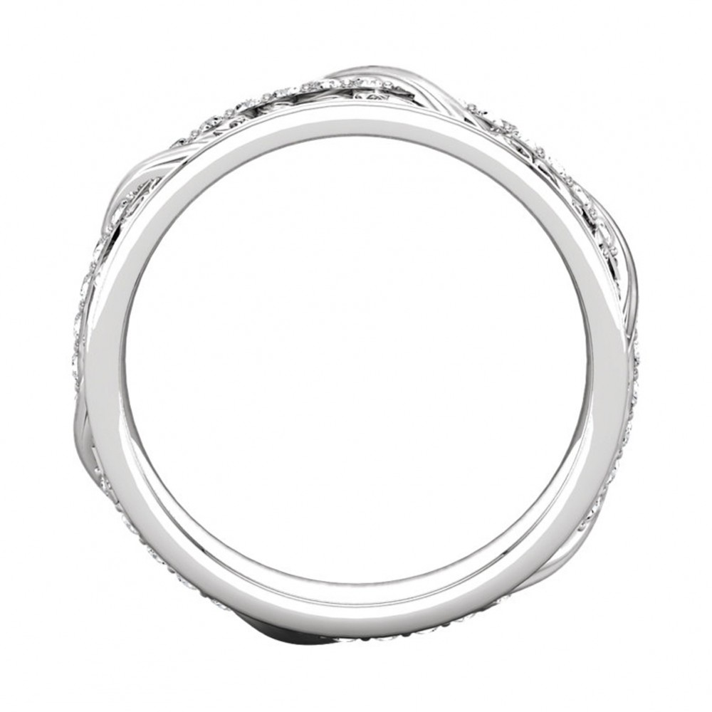 045 Ct Ladies Round Cut Diamond Eternity Wedding Band Ring New Style