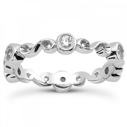0.30 ct Ladies Round Cut Diamond Eternity Wedding Band Ring