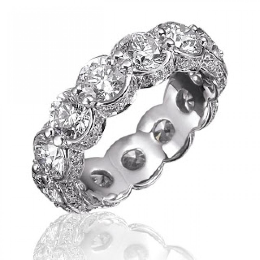6 00 ct Ladies Round Cut Diamond Eternity Wedding Band Ring eternity wedding band 6 00 ct Ladies Round Cut Diamond Eternity Wedding Band Ring