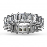 5.00 ct Emerald Cut Diamond Eternity Wedding Band Ring