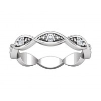 0.80 ct Ladies Round Cut Diamond Eternity Band Ring