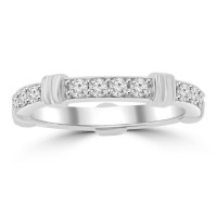 0.65 ct Ladies Round Cut Diamond Eternity Wedding Band Ring
