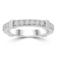 0.75 ct Ladies Round Cut Diamond Eternity Wedding Band Ring