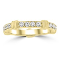 0.65 ct Ladies Round Cut Diamond Eternity Wedding Band Ring Yellow Gold