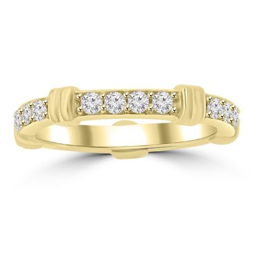 0.65 ct Ladies Round Cut Diamond Eternity Wedding Band Ring Yellow Gold