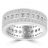 3.75 ct Ladies Round Cut Diamond Eternity Wedding Band Ring