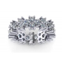 5.00 ct Ladies Round Cut Diamond Eternity Wedding Band Ring