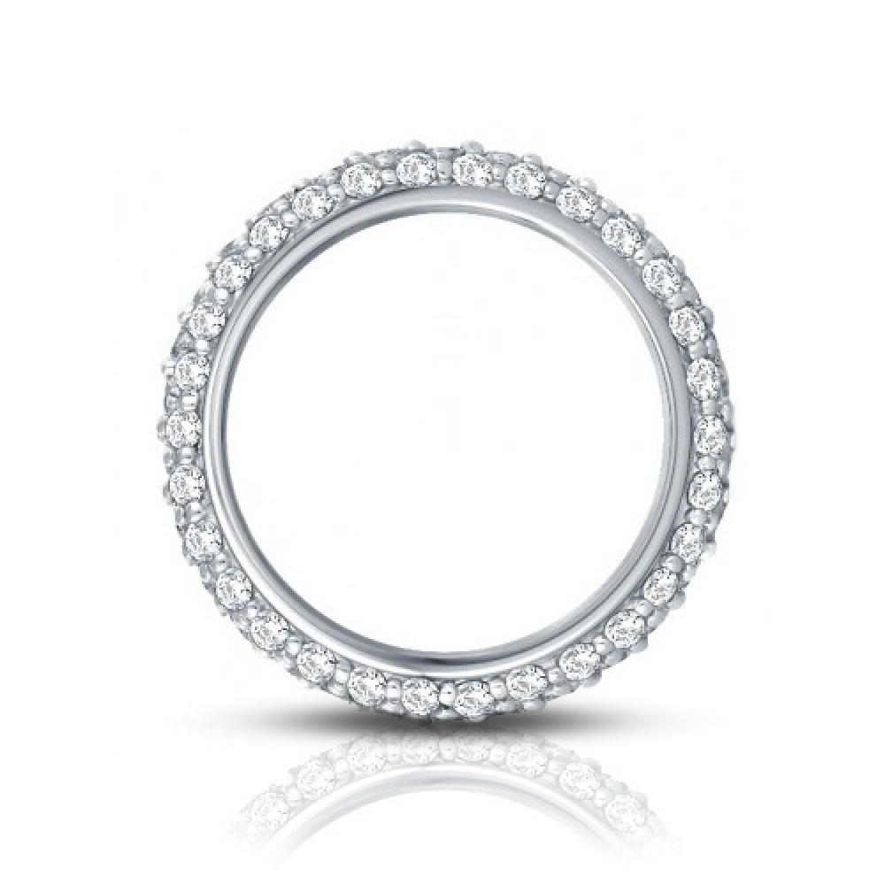 3 50 ct Ladies Three Row Diamond Eternity Wedding Band Ring eternity wedding band 3 50 ct Ladies Three Row Diamond Eternity Wedding Band Ring
