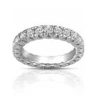 1.50 ct Round Cut Diamond Eternity Wedding Band Ring