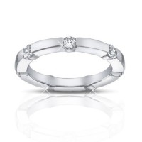 0.65 ct Ladies Round Cut Diamond Eternity Band Ring In Channel Setting