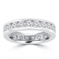 3.00 ct Round Cut Diamond Eternity Wedding Band Ring In Channel Setting