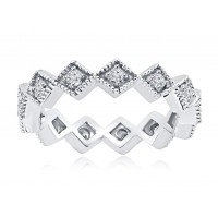 0.50 ct Four Prong Set Round Cut Diamond Eternity Wedding Band Ring