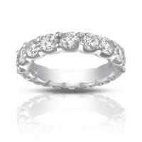 4.00 Ct Ladies Round Cut Diamond Eternity Wedding Band Ring