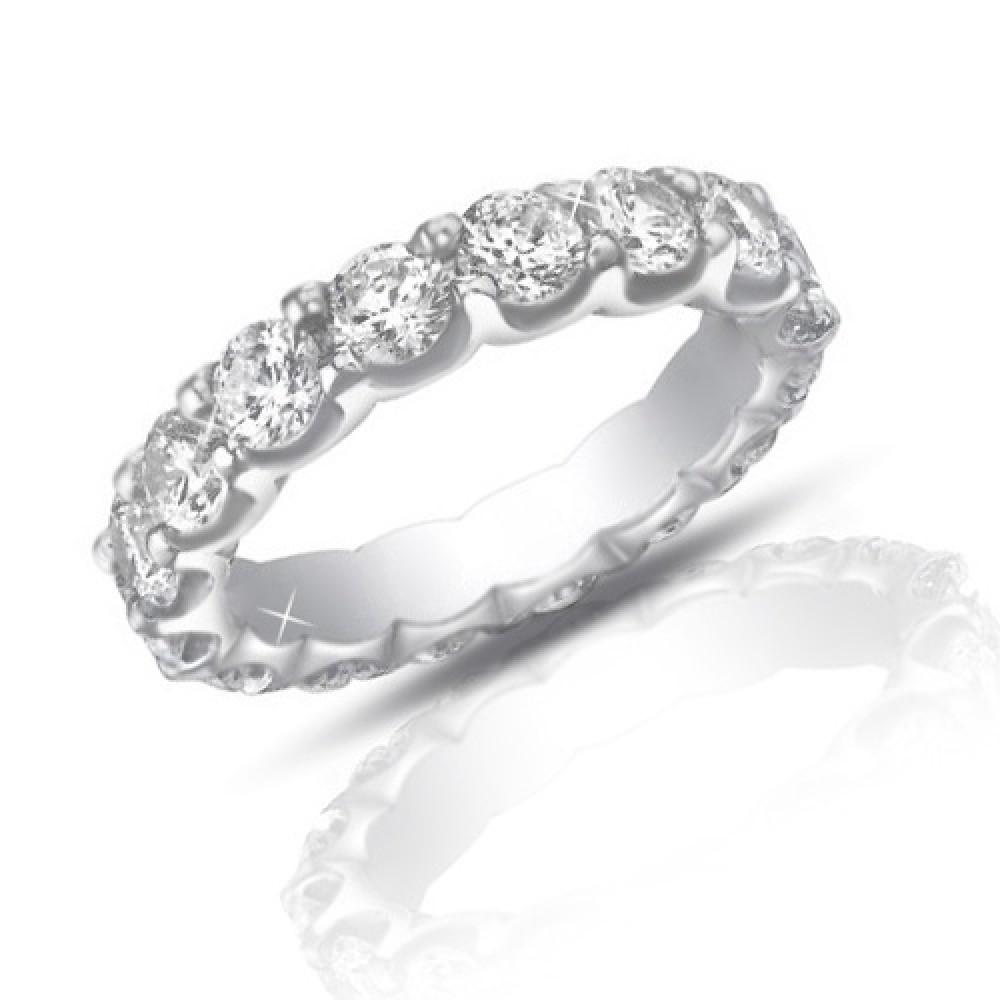 4 00 ct cut eternity wedding band ring