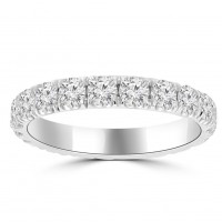 2.00 ct Ladies Round Cut Diamond Eternity Wedding Band in 14 kt White Gold