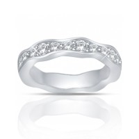 1.25 ct Round Cut Diamond Eternity Wedding Band Ring New Style