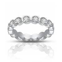 0.75 ct Women's Diamond Eternity Band Ring In 14 kt White Gold