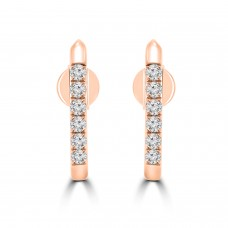 0.31 Ct Round Cut Diamond Stud Earrings in 14k Rose Gold